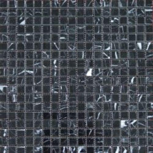 Muurmozaïektegel marmer zwart 30x30cm 0,47m²