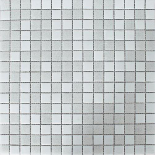 Mozaïek tegel glas mix lichtgrijs 32,5x32,5cm