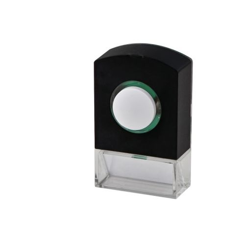Avidsen verlichte drukknop voor bedrade bel zwart
