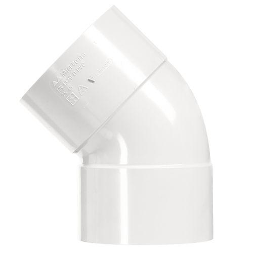 Martens bocht  40mm 45gr 2xlm wit