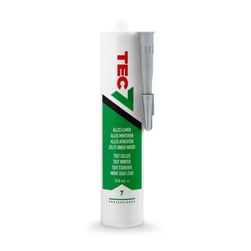 'Tec7' Lijm flesje grijs 310ml