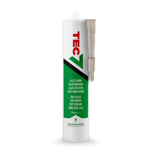 'Tec7' Lijm flesje beige 310ml