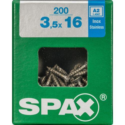 Spax schroef 'T-Star plus A2' RVS 16 x 3,5 mm - 200 stuks