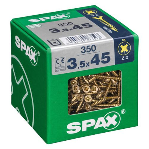 Spax universeel schroef 'Pozi' staal 3,5 x 45 mm - 350 stuks