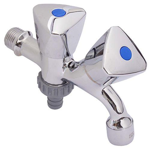 Double robinet équerre Sanivesk 1/2 BU x 3/4 BU