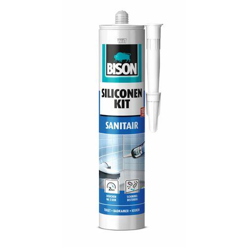 Bison siliconenkit Sanitair wit 300ml