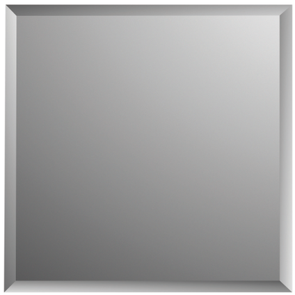 Plieger spiegeltegels Tiles 4 stuks 30x30cm zilver