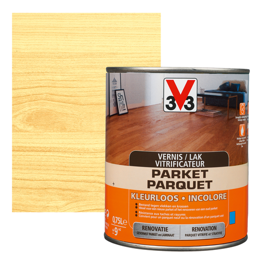 Vitrificateur V33 Parquet incolore brillant 750ml