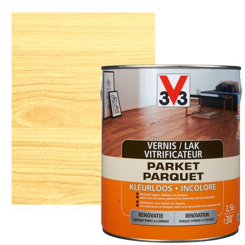 Vitrificateur parquet V33 inColore mat 2,5L