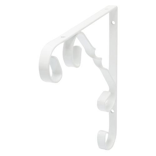 Support pour étagère Duraline Ornament blanc 20x20cm