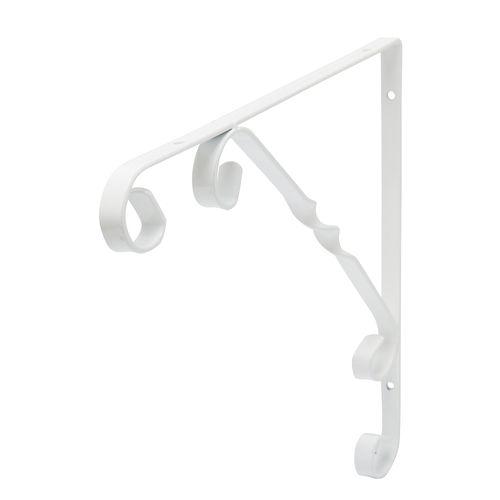 Support pour étagère Duraline Ornament blanc 25x25cm