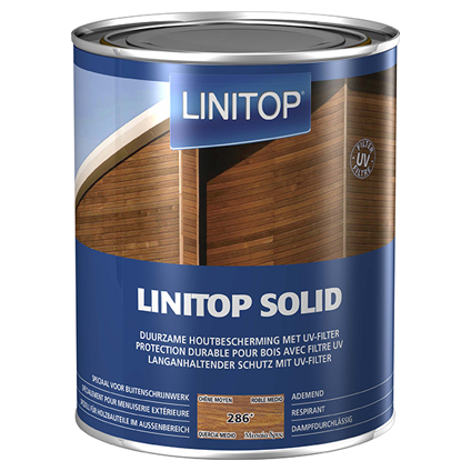 Linitop beits 'Solid' midden eik 2,5L