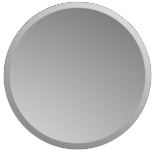 Plieger spiegel Charleston rond met facetrand Ø50cm zilver