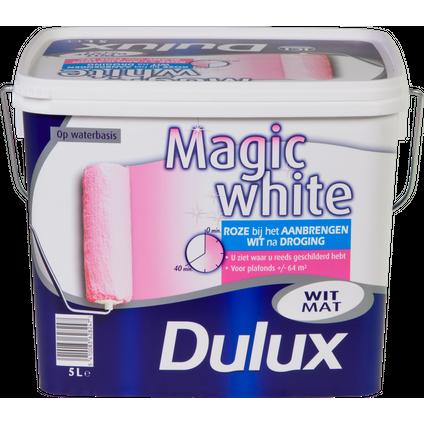 Dulux latex verf 'Magic White' wit mat 5L
