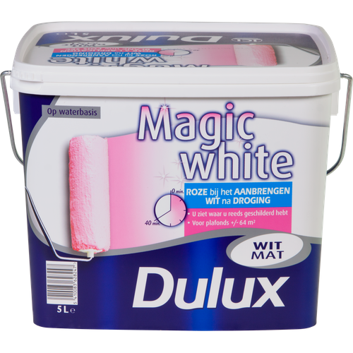 Dulux latex verf 'Magic White' wit mat 5L
