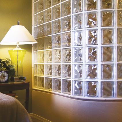 brique de verre coeck nuageux transparent 19 x 19 x 8 cm