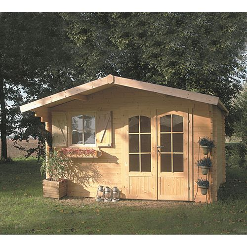 Solid tuinhuis Chamonix hout 388x328cm