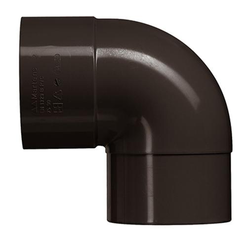 Martens bocht PVC bruin 87° 80 mm