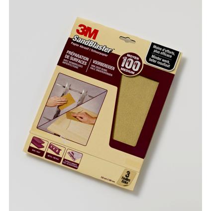 3M schuurpapier 'SandBlaster' P100 paars