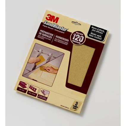 3M schuurpapier 'SandBlast' P120 paars