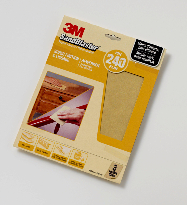 3M schuurpapier SandBlaster P240 goud