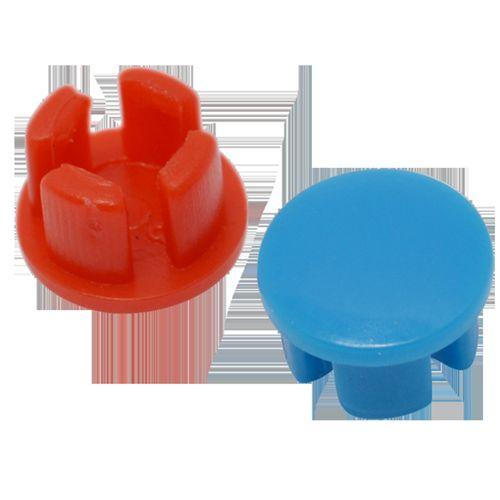 Sanivesk afsluitpluggen blauw+rood