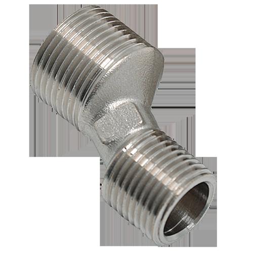 Sanivesk rechte S-koppeling polyethyleen 3/4M x 1/2M 2 stuks