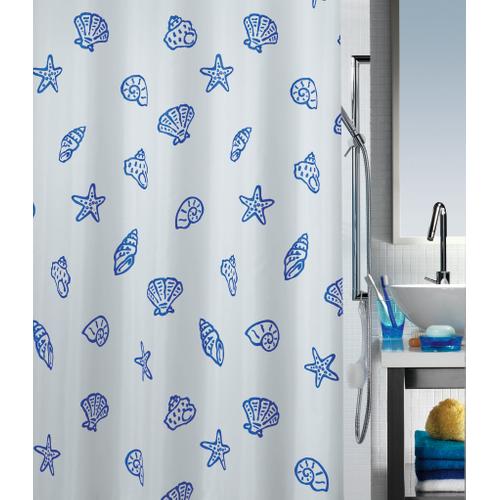 Spirella douchegordijn Concha blauw 180cm