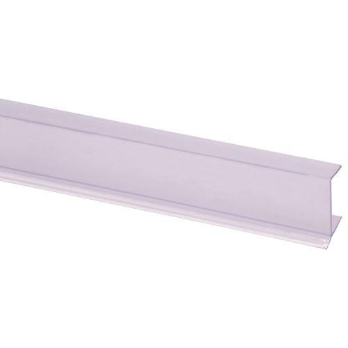 Profilé de socle de cuisine transparent 9,5x20mm 260cm