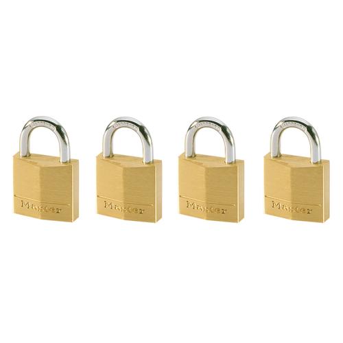 Master Lock set van 4 hangsloten