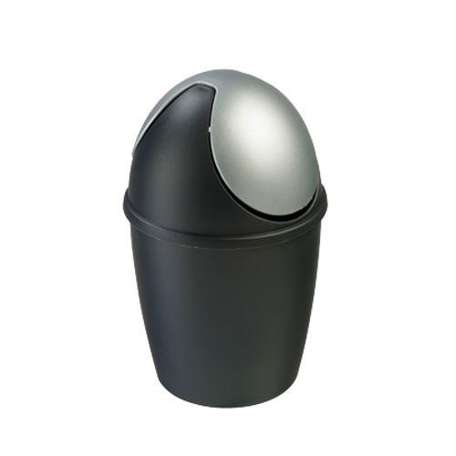 Poubelle de table Sunware 'Tiglio' 1,5 L noir/argent