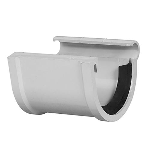 Martens verbindingsstuk PVC lichtgrijs 80 mm