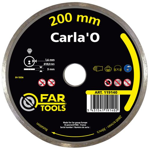 Disque diamant Far Tools 'Carla'O HQ Cobalt' 20 cm