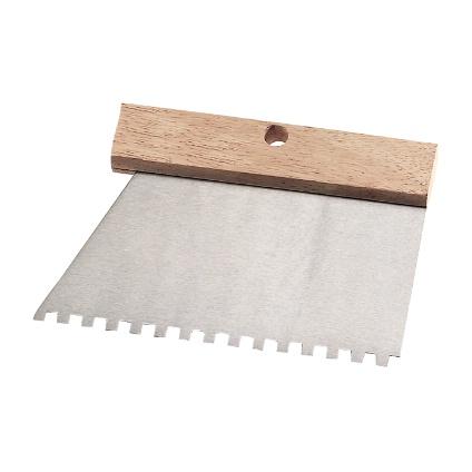Couteau à colle Far Tools inox 18,5 cm dents 6 mm