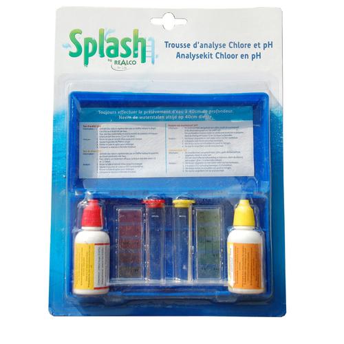Splash testkit voor chloor en pH in vloeistof