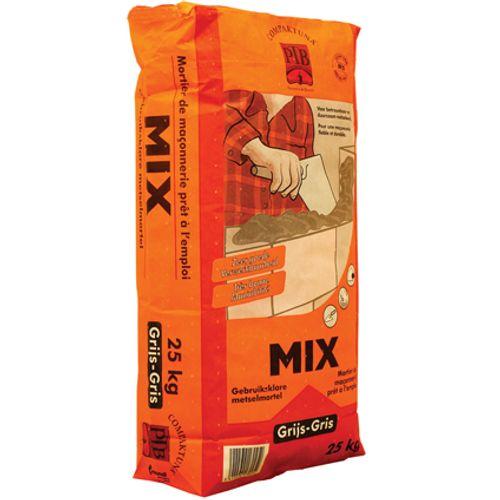 PTB-compaktuna gebruiksklare metselmortel 'Mix' grijs 25 kg