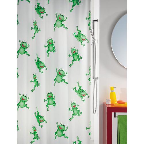 Spirella douchegordijn Frogtime groen 180cm