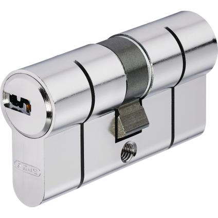 Abus Vernikkelde veiligheidscilinder 30/30 mm met puntsleutel