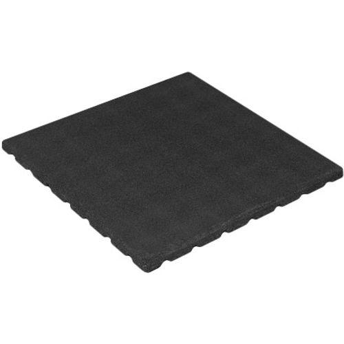 Decor rubberen tegel zwart 50 x 50cm