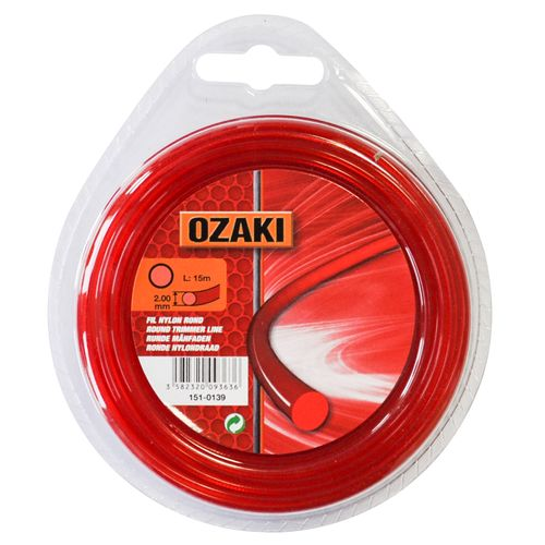 Fil coupe-bordure Ozaki rond 15 m x 2 mm