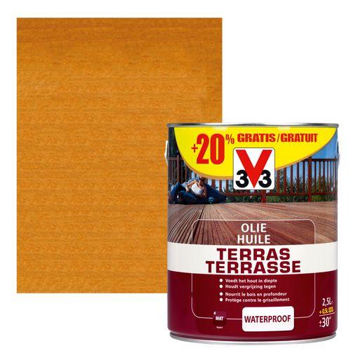V33 terrasolie bangkirai mat 2,5L+ 20%