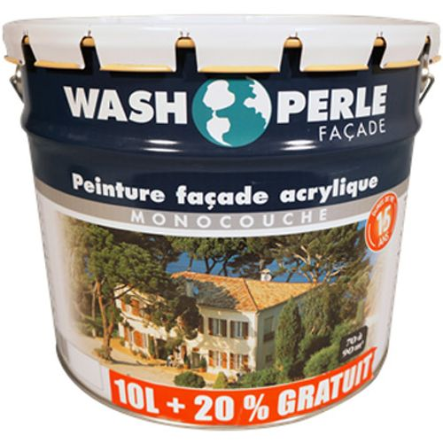 Wash Perle gevelverf acryl wit 12L