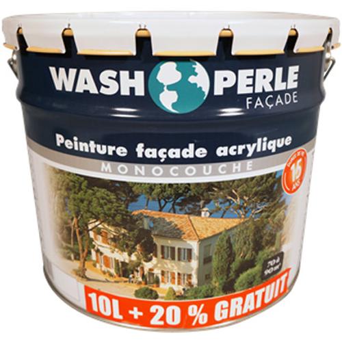 Peinture façade Wash Perle acryl pierre 12L