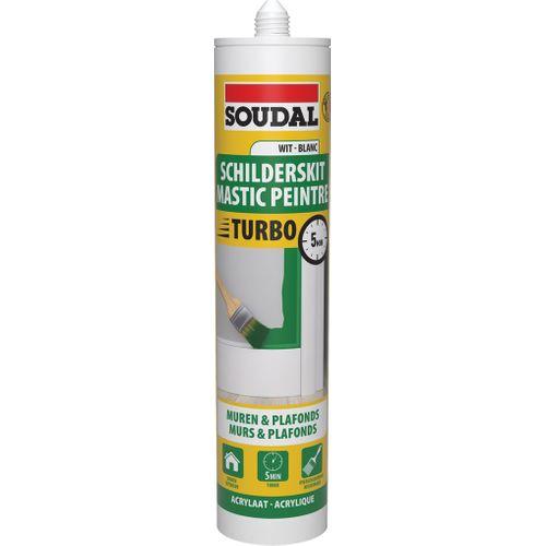Soudal acrylaatmastiek schilderskit 'Express' wit 300 ml