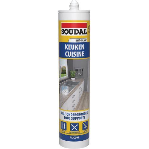 Soudal keukensilicone extra wit 300 ml