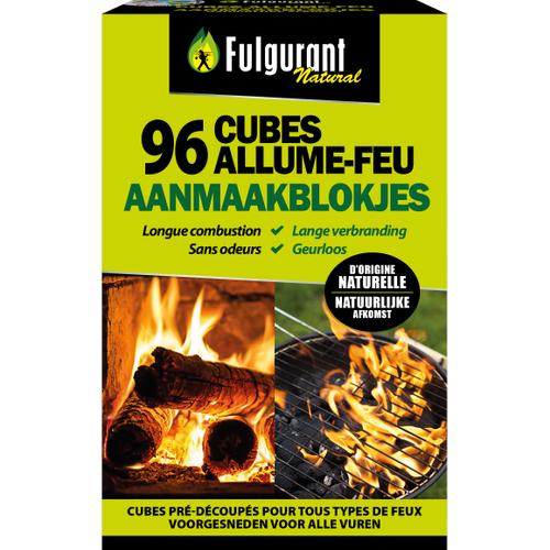Cubes allume-feu Fulgurant écologique - 84 pcs