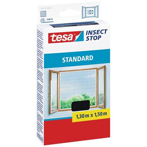 Moustiquaire pour fenêtre Tesa 'Standard' noir 1,5 x 1,3 m