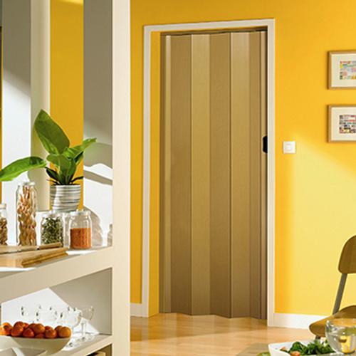 Grosfillex vouwdeur 'Una'  PVC licht hout 205x84cm