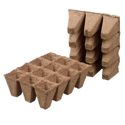 Ubbink turfpottrays 5x4x4cm - 12 x 6 stuks