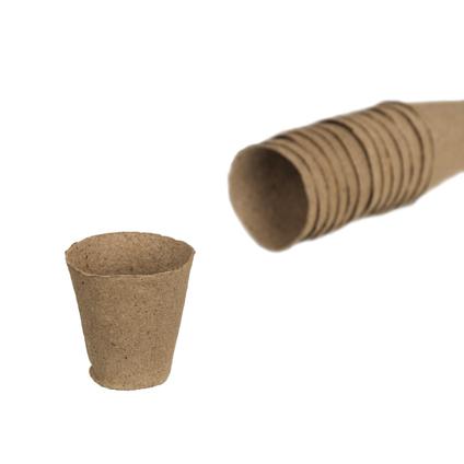 Turfpot rond 6cm 18 stuks